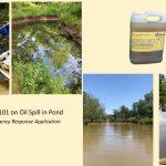 oil spill pond help